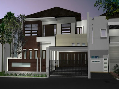 Image design minimalist house 2 floors
