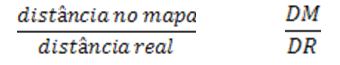 escala é uma razão entre a distância real e a distância no desenho