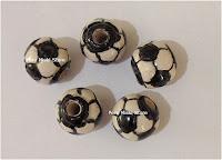 Soccer ball ceramic beads - Futbol