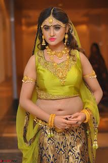 Sony Charishta in Green Choli Ghagra Transparent Chunni Ethnic Wear March 2017 061.JPG