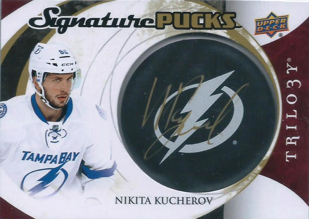 Wax Stain Rookie  15-16 Trilogy Signature Pucks Nikita Kucherov Auto 020d639b2