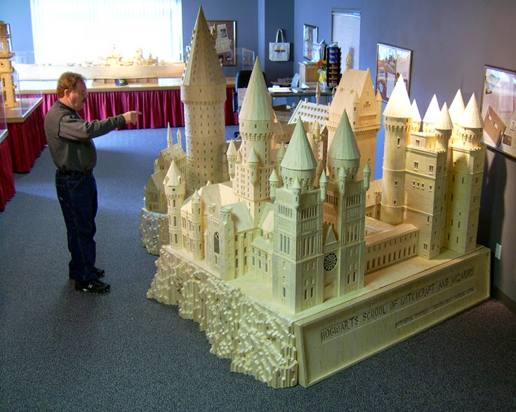 04-Hogwarts-Patrick-Acton-The-Matchmaker-Matchsticks Sculptures-www-designstack-co