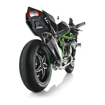 Kawasaki Ninja H2R motorcycle rear view