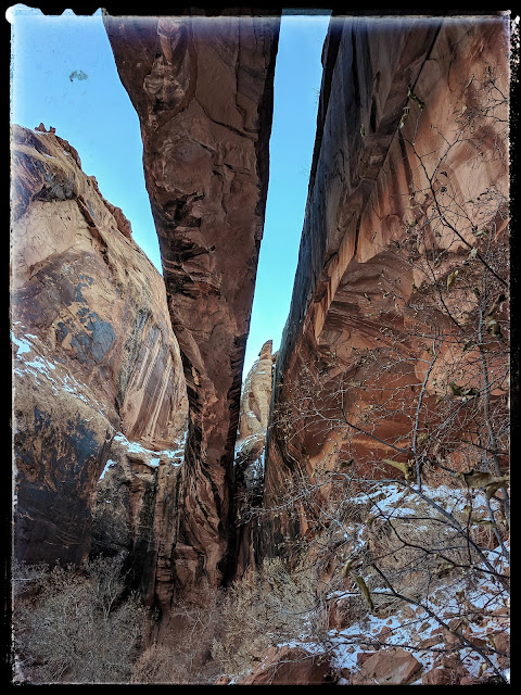 Morning Glory Natural Bridge Arch From Underneath  Grandstaff Canyon Moab, Utah