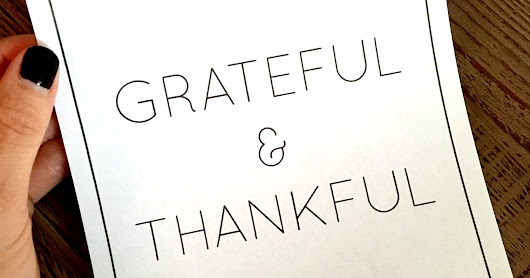 Grateful & Thankful Printable