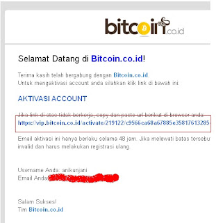cara daftar, verifikasi, dan transaksi di VIP Bitcoin.co.id