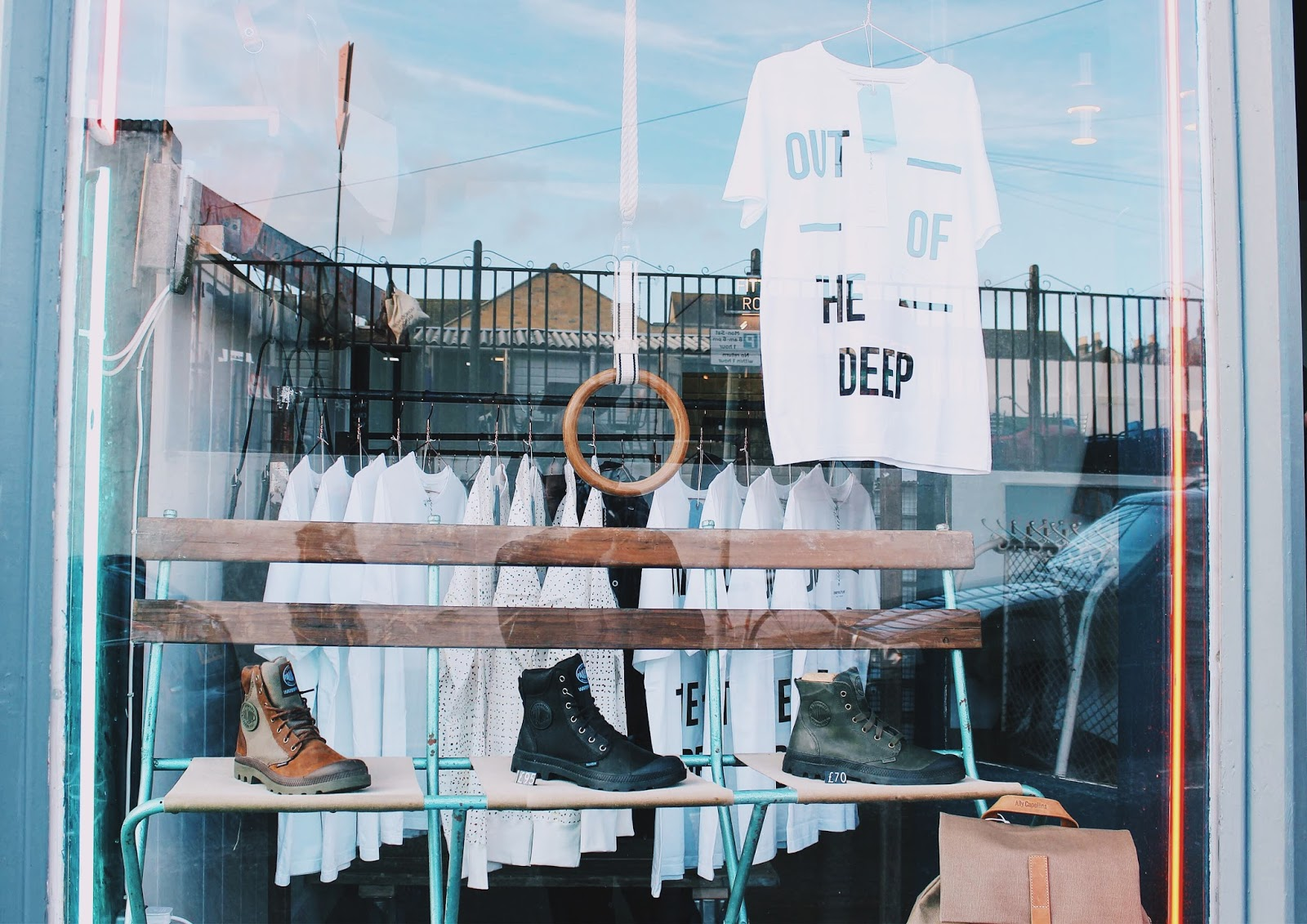 Black Deep menswear and womenswear store in margate featuring crowther plant