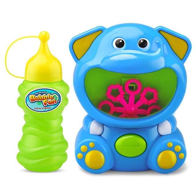 ilearn iplay elephant bubble machine shooter and blower
