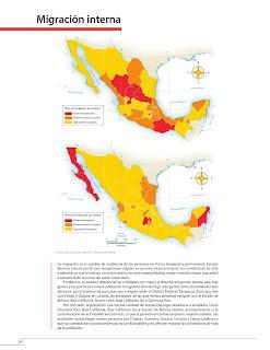 Apoyo Primaria Atlas de México 4to Grado Bloque II Lección 9 Migración interna