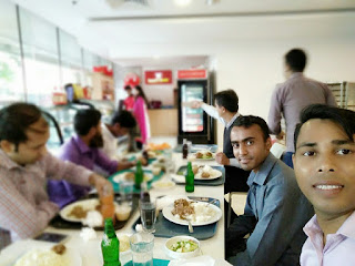Sajal Mondal took lunch with his colleague