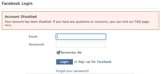 My Facebook Is Disabled How Do I Get It Back<br/>