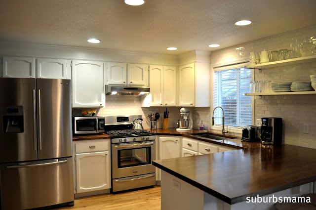 Suburbs Mama: Painting Our Kitchen Cabinets