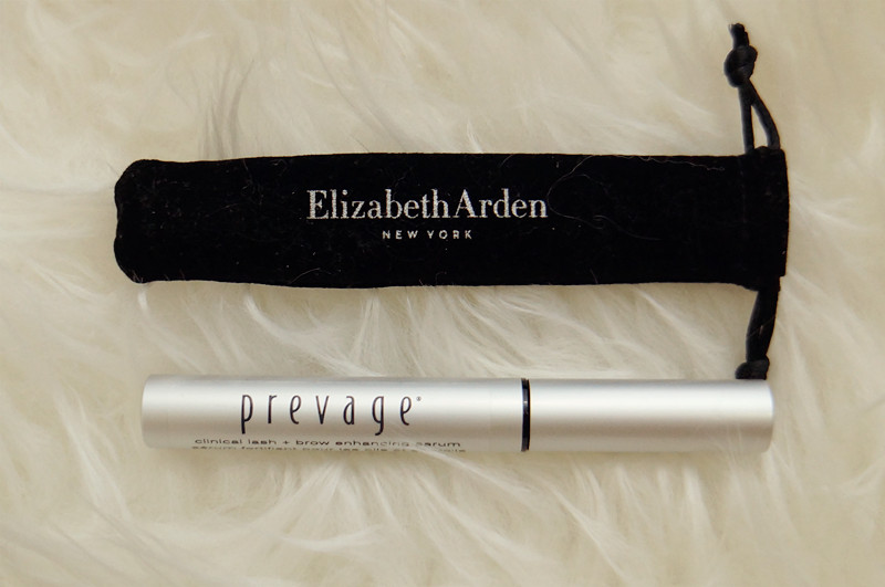 57871631d5d Elizabeth Arden's PREVAGE® Clinical Lash + Brow Enhancing Serum comes with  a pouch that just fit into it, very classy and portable.