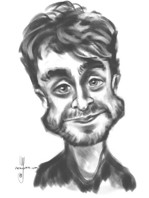 Daniel Radcliffe caricature by Artmagenta