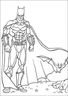 the dark night coloring pages - photo#8