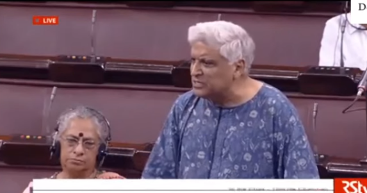 Bollywood lyricist Javed Akhtar, who is retiring from Rajya Sabha as a nominated member, deleivered a memorable speech slamming AIMIM leader Asaduddin Owaisi for saying he would not say Bharat Mata ki Jai.  He did not spare the Hindu fringe elements either for  targeting Muslims.  Asaduddin Owaisi had said recently that he would not chant Bharat Mata ki Jai even if a knife was held to his throat as it had not been mandated by the constitution.