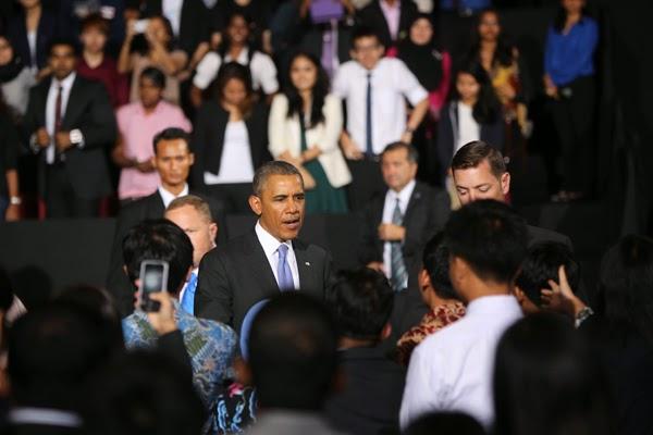 President Barack Obama arrived.