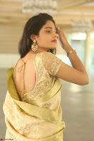 Harshitha looks stunning in Cream Sareei at silk india expo launch at imperial gardens Hyderabad ~  Exclusive Celebrities Galleries 040.JPG