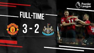 Cuplikan Gol Manchester United vs Newcastle United 3 - 2