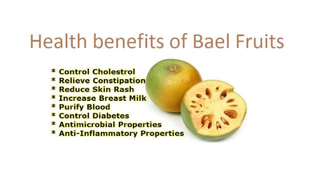 Health benefits of bael fruits