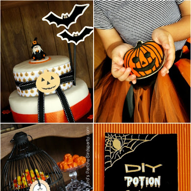 Halloween Party Ideas | A Cute Witch's Potion Cupboard