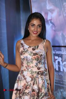 Actress Madhu Shalini Stills in Floral Short Dress at RGV Shiva to Vangaveeti Event  0032.JPG