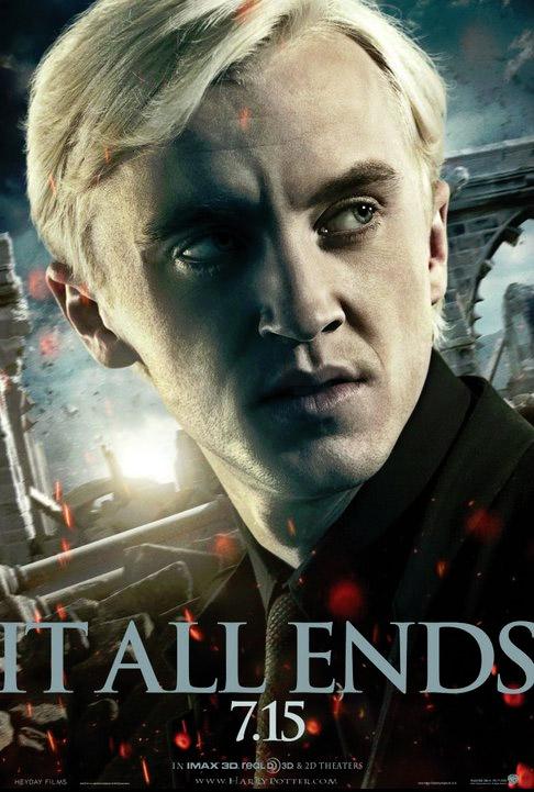 Banner de Draco Malfoy en 'Harry Potter y las reliquias de la muerte. Parte II'