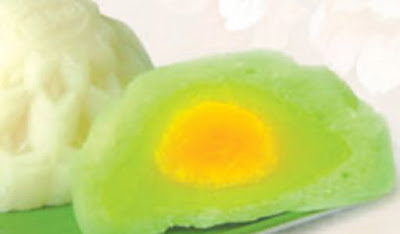 Bánh trung thu Bibica - Dẻo đậu xanh lá dứa 1 trứng 180g
