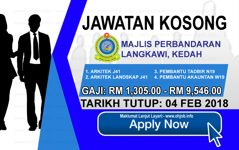 Jawatan Kerja Kosong Majlis Perbandaran Langkawi Bandaraya Pelancongan - MPLBP logo www.ohjob.info februari 2018