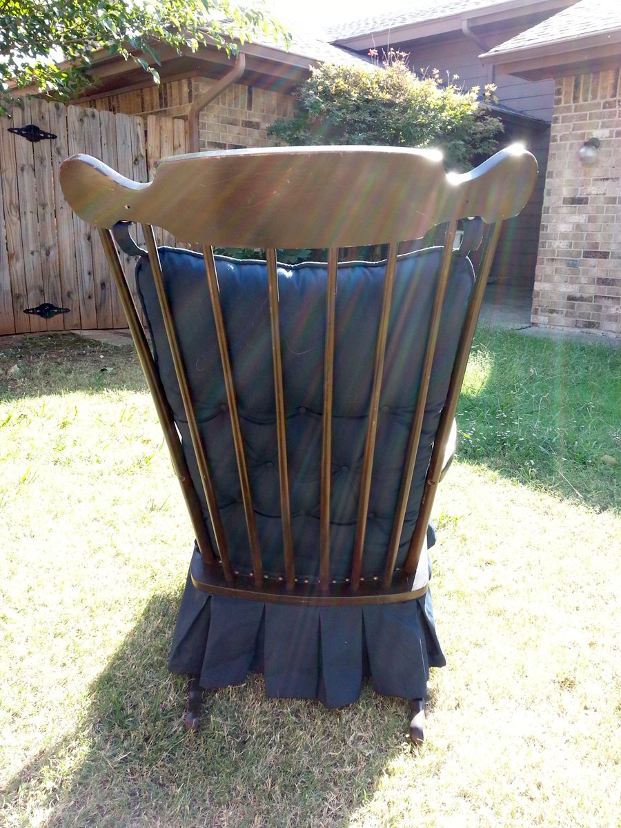 Antique Platform Glider Rocking Chair Downtown Oklahoma