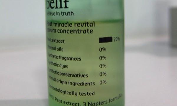 Belif's Peat Miracle Revital Serum Concentrate