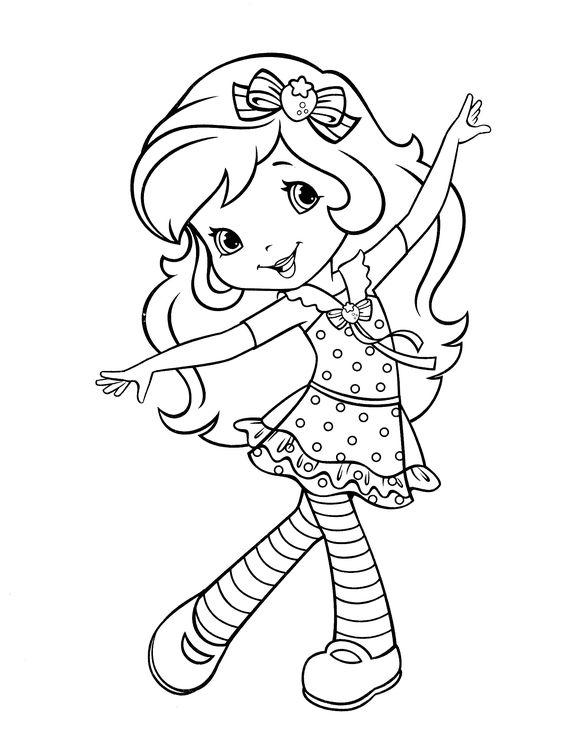 Tranh tô màu bé gái đang múa
