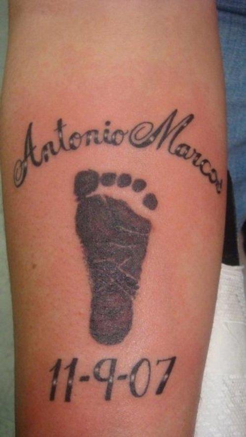 Diamonds Tattoos Footprint
