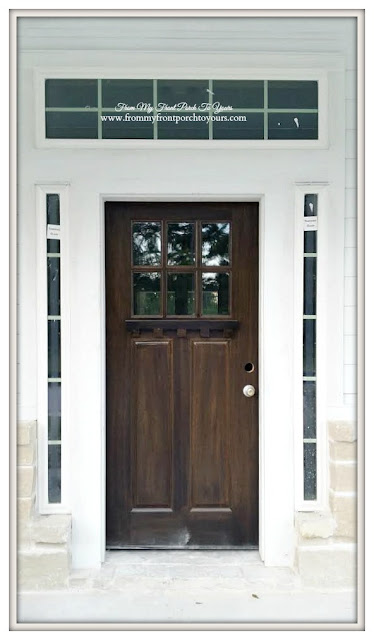 Exterior Wood Front Door-Craftsman Style- Front My Front Porch To Yours