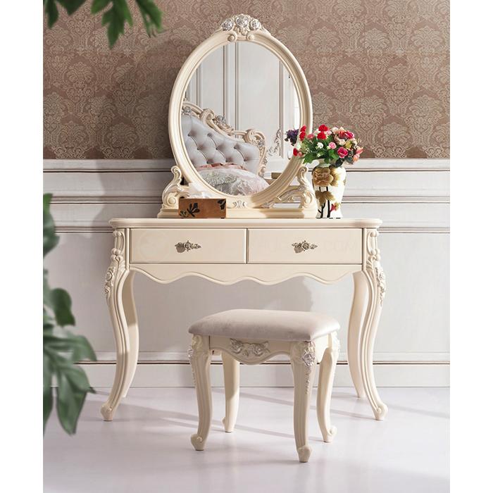 Meja Rias Ukir Bunga | Meja Rias Putih