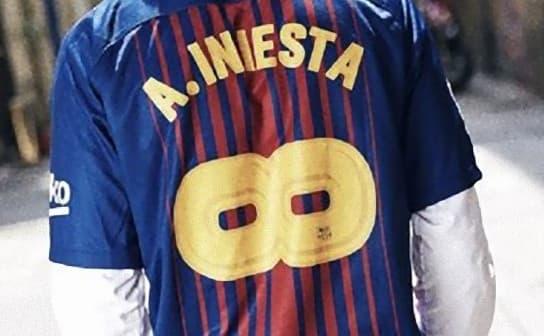 FCバルセロナ 2017-18 ユニフォーム-イニエスタ特別
