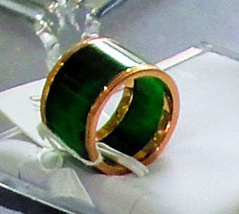 jade and gold rings