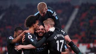 Manchester City Kalahkan Stoke City 2-0
