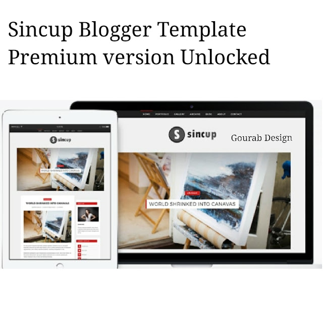 Sincup-Seo Friendly Blogger Template Premum Version Unlocked