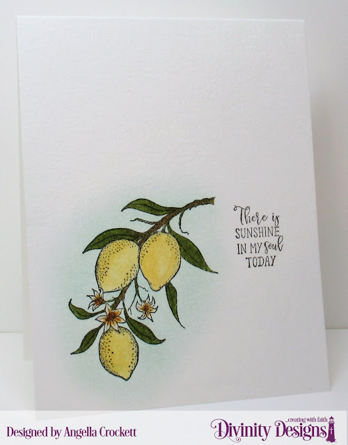 Divinity Designs Lemon Branch, Card Designer Angie Crockett