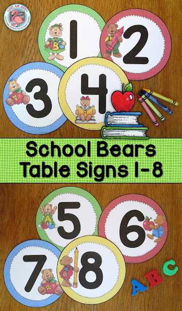 https://www.teacherspayteachers.com/Product/Table-Signs-1-8-School-Bears-2730085