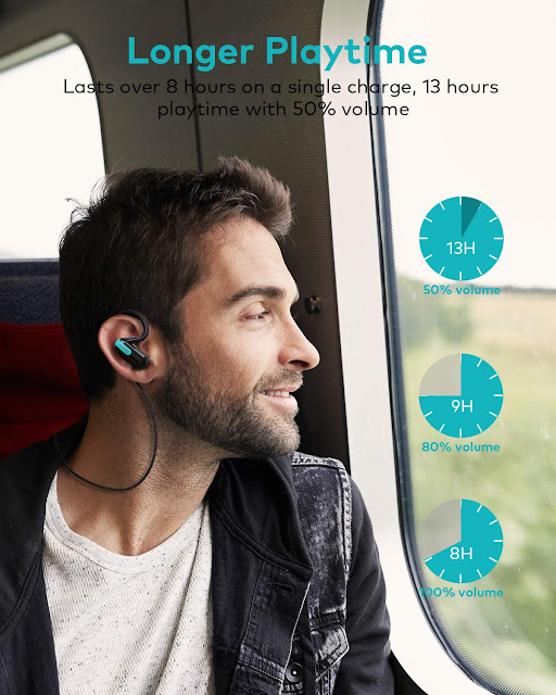 Xcentz Bluetooth Headphones Wireless Sport Earbuds playtime image