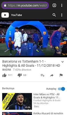 Perhatikan URL video