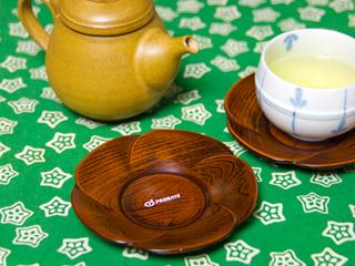茶托(湯飲みの受け皿)への印刷事例写真
