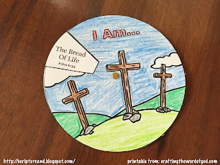 "Jesus Said ""I am..."" Spin Wheel craft from craftingthewordofgod.com"