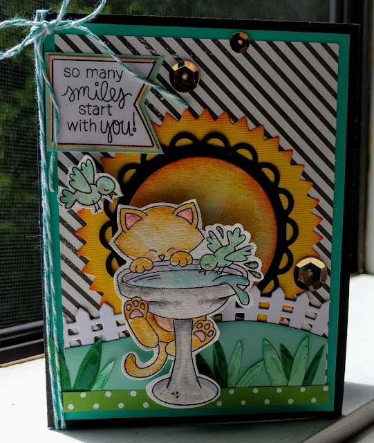Encouragement Card by Sharon featuring Newton's Nook Designs Newton's Birdbath  #newtonsnook