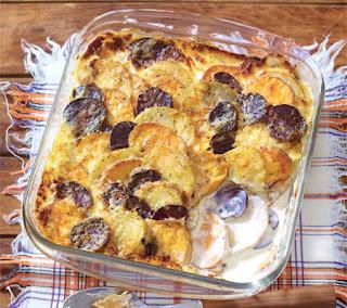rainbow potato gratin recipe