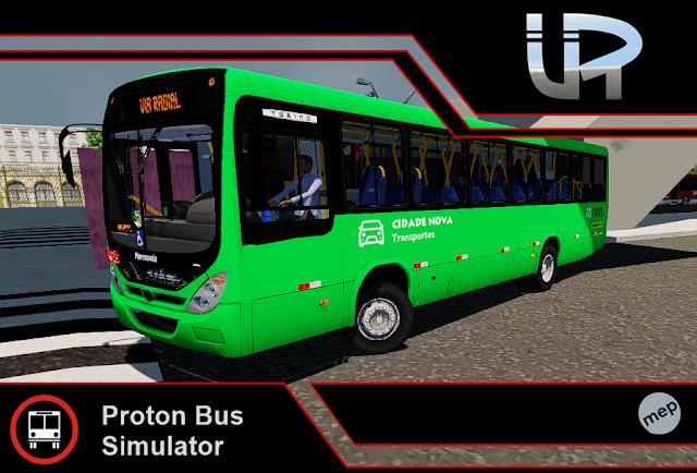 Skin Proton Bus Simulator - Torino 2007 MB OF-1418 Cidade Nova Transportes
