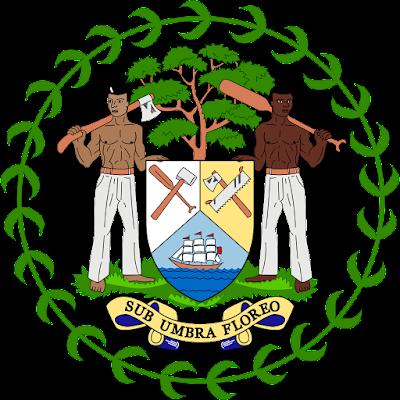 Coat of arms - Flags - Emblem - Logo Gambar Lambang, Simbol, Bendera Negara Belize