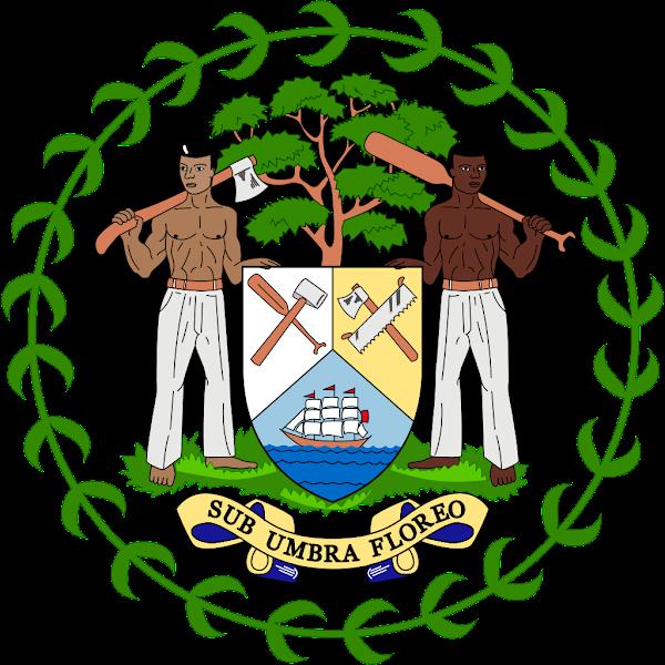 Logo Gambar Lambang Simbol Negara Belize PNG JPG ukuran 600 px